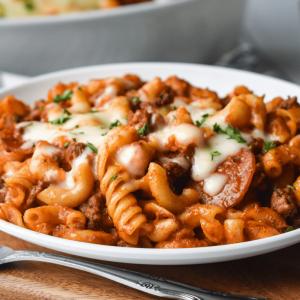 pasta and 1934 BBQ sauce