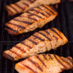 1934 BBQ & grilled salmon